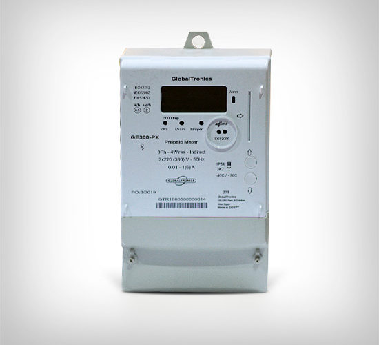 GE300-PXClass 0.5 s – Advanced Three Phase Electronic Prepaid Meter (CT Connected)